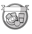 healthy food emblem image vector image vector image