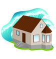 house insurance against floods high wave covered vector image