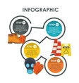 infographic industrial security design vector image vector image