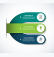 infographic template with 3 steps options vector image vector image