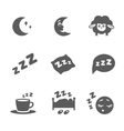 isolated sleep icons set vector image