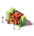 isometric pet store vector image vector image