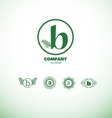 Letter B small logo vector image vector image