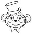 Majmun BW vector image vector image