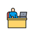 man at workplace office working boss flat vector image vector image
