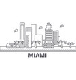 miami architecture line skyline vector image vector image