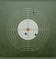 military target with bullet holes vector image