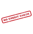 No Credit Check Rubber Stamp vector image vector image