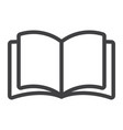open book line icon web and mobile read mode vector image vector image