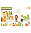 Organic market concept vector image