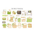 organic zero waste reusable packaging paper boxes vector image