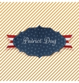 Paper Card with Patriot Day Text vector image vector image