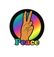 Peace hand gesture of peace vector image