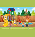 people at the playground vector image vector image