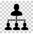 people hierarchy icon vector image vector image