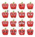 pepper emoji emoticon expression vector image vector image