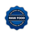 raw food badge vector image