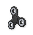 realistic fidget spinner icon eps10 hipster toy vector image vector image