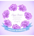 retro flower circle with ribbon concept vector image vector image