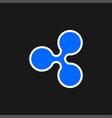 ripple icon vector image