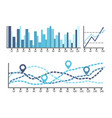 scheme with numbers and visualized data on charts vector image vector image