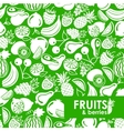 seamless pattern fruits and berries icons vector image vector image
