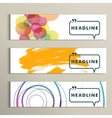 Set abstract design on a white background vector image vector image