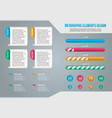 set of business infograph vector image vector image