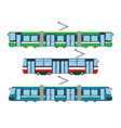 set of tram vector image vector image