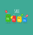 shopper bag sale animated bags offer discounts vector image