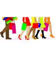 shopping legs vector image vector image