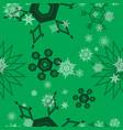 snowflake pattern green vector image