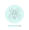 spider icon line element of vector image
