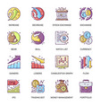 stock quotes flat icons set bear and bull vector image vector image