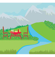 Summer picnic vector image vector image