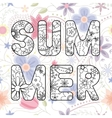 Summer word on vintage background vector image vector image