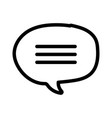 talk bubble chat message on white backrgound thick vector image
