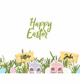 template banner for easter or spring vector image vector image