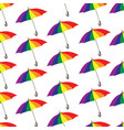 umbrella pattern rainbow colored parasol seamless vector image