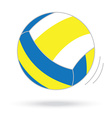volleyball ball isolated white background vector image vector image