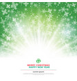 winter green background christmas made of vector image vector image
