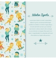 Winter Sports background with children vector image vector image