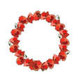 wreath of poppy flower vector image vector image
