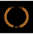 Wreath of wheat ears vector image vector image