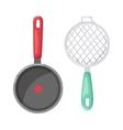 Cartoon pan cooking pot vector image