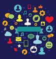 social media concept - illustation