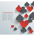 Abstract background with playing cards signs vector image vector image