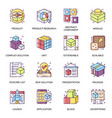 abstract product flat icons set vector image vector image