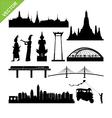 Bangkok symbol and landmark silhouettes vector image vector image
