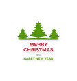 banner merry christmas and happy new year vector image